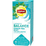 Sachets de thé Lipton Thé vert menthe   25 Unités