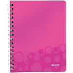 Cahier Leitz A5 WOW 160 Pages Polypropylène Rose