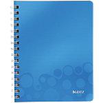 Cahier à double spirale Leitz A5 WOW 160 Pages Bleu