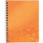 Cahier Leitz A5 WOW 80 Pages Polypropylène Orange