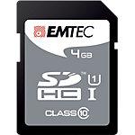 Carte mémoire SDHC EMTEC 4 Go Noir
