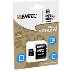 Carte mémoire EMTEC Gold 8 Go microSDHC