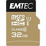 Carte mémoire SDHC EMTEC CLASS10 32 Go Doré