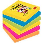 Notes adhésives Post it Super Sticky 76 (H)  x  76 (l) mm 70 g