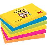 Notes adhésives Post it Super Sticky 76 (H)  x  127 (l) mm 70 g