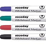 Marqueur pour tableau blanc Niceday WBM2.5 Assortiment   4