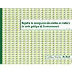 Registre des alertes Exacompta 24 x 32 cm 20 Pages Blanc