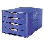 Modules de classement   Office DEPOT   bleu   4 tiroirs