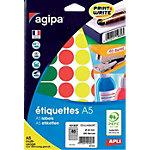 Pastilles adhésives Agipa Apli A5 Assortiment 280 étiquettes   280