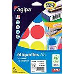 Pastilles adhésives APLI AGIPA A5 101829 45mm (ø) Assortiment 84 étiquettes   84