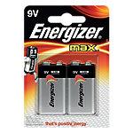 Pile Energizer Max 9V 2 Piles