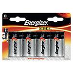 Pile Energizer Max D Paquet 4