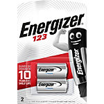 Piles Energizer Lithium CR123A Paquet 2