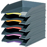 Corbeilles à courrier DURABLE VARICOLOR A4+ Assortiment   5