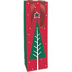 Sac cadeau Papier Arbres de Noël Clairefontaine 40cm (H) x 10cm (l) Assortiment