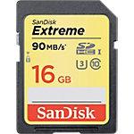 Carte mémoire Micro SD SanDisk Extreme UHS I U3 Class 10 16 Go Noir