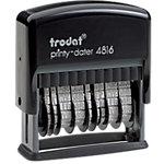 Tampon dateur Double date Trodat Printy 4816 1 Ligne 3.8 mm Noir