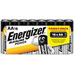 Piles Energizer Alcaline Power AA 16 Piles