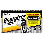 Piles Energizer Alcaline Power AAA 16 Piles
