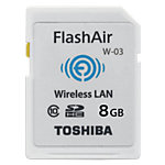 Carte SDHC Toshiba Flash Air 8 Go Blanc   1