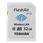 Carte SDHC Toshiba Flash Air 32 Go Blanc   1