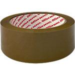 Ruban adhésif d'emballage Film BOPP, adhésif Office Depot 4,8cm (l) x 66m (L) 65 microns Marron
