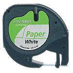 Ruban d'étiquettes DYMO Letratag 12mm (L) x 4m (l) Noir, blanc
