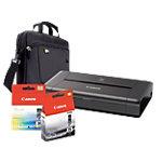 Lot imprimante iP110, housse, cartouche d'encre et câble Jet d'encre Canon