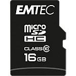 Carte mémoire MicroSDHC EMTEC Classic Noir