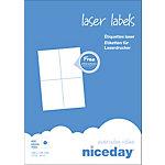 Étiquettes d'adresses 4 étiquettes par feuille niceday 105 (H) x 148 (l) mm Blanc   400