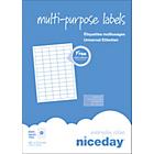 Étiquettes multifonctions Niceday 980459 Blanc 6500 étiquettes   100 feuilles de 65 étiquettes