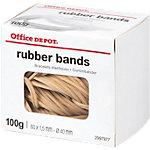 Bracelets élastiques en caoutchouc Office Depot   Sac de 100 g