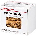 Bracelet caoutchouc étroit Office Depot 100 g   Boîte de 100 g