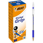 Stylo à bille BIC Cristal Grip Bleu   20