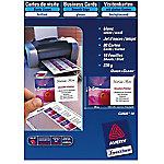 80 Cartes de visite   Avery   Quick & Clean pour imprimante jet d'encre qualité mat 260g
