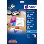 80 Cartes de visite   Avery   Quick & Clean pour imprimante jet d'encre qualité photo 240g
