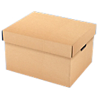 Caisses multi usages Carton SMURFIT KAPPA 25,7 (H) x 43,5 (l) x 35 (P) cm Marron   15