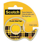 Ruban adhésif Scotch 12mm (l) x 6m (L) Double face Transparent