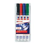 DVD edding 8400 Encre à base d'eau Noir, rouge, bleu, vert   4