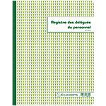 Registre délégués du personnel Exacompta Piqûre 30 Pages Vert et blanc