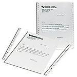 2500 feuilles papier listing blanc uni 240x11