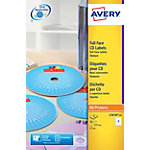 50 Etiquettes qualité photo Laser   Avery   pour CD