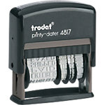 Tampon Dateur multiformules Trodat Printy 4817A 1 Ligne Noir