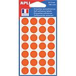 Pastilles adhésives AGIPA Apli 15mm (ø) Orange 168 étiquettes   168