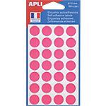Pastilles adhésives AGIPA Apli 15mm (ø) Rose 168 étiquettes   168