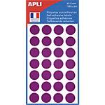 Pastilles adhésives AGIPA Apli 15mm (ø) Violet 168 étiquettes   168