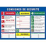 Panneau de consignes de sécurité PVC Sicli 29,7 (H) x 42 (l) cm