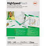 Pochettes de plastification 2 x 125 (250) µm GBC A4 30,3 (H) x 21,6 (l) cm Transparent   100
