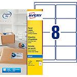 25 Feuilles pour étiquettes adresse jet d'encre   Avery   8 étiquettes 99,1 x 67,7 mm