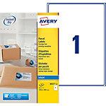 25 Feuilles pour étiquettes adresse jet d'encre   Avery   1 étiquette 199,3 x 289,1 mm